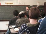 ボストン市内の高校での日本語授業風景