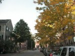 秋の通学路