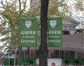 ハーバード大学の環境にやさしいキャンペーンフラッグ